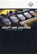 Prospekt MAN Motoren für Fahrzeuge 8 02 2002 LKWs Broschüre Auto Lastwagen truck