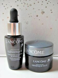 2 Pc LANCOME Advanced GENIFIQUE YOUTH ACTIVATING CONCENTRATE Serum & EYE CREAM