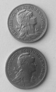 1929 & 1930 PORTUGAL 50 CENT CENTAVOS COINS