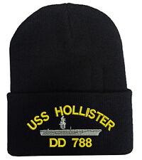 USS HOLLISTER DD 788 FOLD LONG CUFF BEANIE HATS MILITARY LAW ENFORCEMENT
