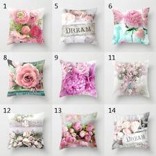 Printed Pillow Case Rose Flower Throw Cushion Cover Sofa Home Decor Pillowcase