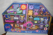 #7334 NEFB Hasbro K-Mart Stores Littlest Pet Shop Pet House with 9 Pets