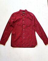 Ralph Lauren RUBGY Red Plaid Men's Button Shirt   Long Sleeve   Sz L