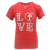 Philadelphia Phillies Official MLB Youth Girls Athletic polyester T-Shirt New