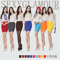 Women Striped Sexy Mini Skirt Lady Office Casual Club Party Wrapped Pencil Skirt