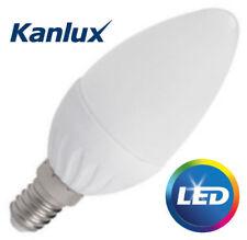 3x ALIMENTATORE kanlux ad alta lumen CANDELA LAMPADINA 4.5 W SMD E14 400 LM LAMPADA A LED BIANCA FREDDA UK