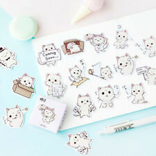 45Pcs Box-packed Kawaii Cat Stickers Decor Stationery Stickers DIY Diary Label