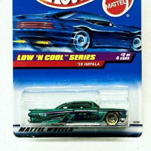 1998 Hot Wheels Low 'n Cool Series 2 1959 Chevrolet Teal '59 Impala Gold LW