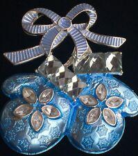 NWT NAPIER CHRISTMAS WINTER SNOWFLAKE BLUE MITTEN GLOVE PIN BROOCH JEWELRY SLIDE