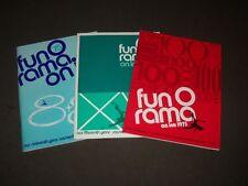 1973-1975 Fun O Rama On Ice Skating Souvenir Programs Lot Of 3 - O 3000