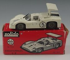 SOLIDO CHAPARRAL 2F BY MARX SPORT CAR 1/43 SCALE WHITE #169 WITH BOX MADE FRANCE