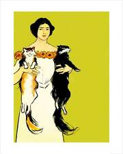 Penfield - Springtime Felines - fine art print vintage poster cats various sizes