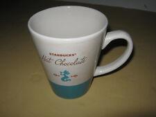 Starbucks Hot Chocolate coffee mug tall blue teal mermaid 15 oz 2010 v good cond