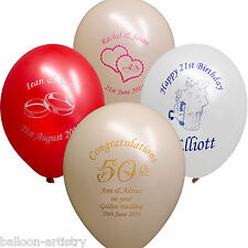 25 x Birthday Anniversary Wedding Party Personalised Logo Printed Balloons