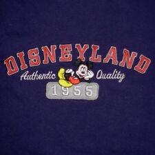 Disney Mickey Mouse T-Shirt Large Embroidered Disneyland Park Resort Ringer 1955
