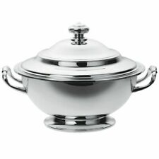 CHRISTOFLE ALBI SOUP TUREEN AND COVER SILVERPLATED