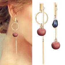Crystal Drop Earrings Circle Cloth Ball Female Long Dangle Earrings Creative LJ