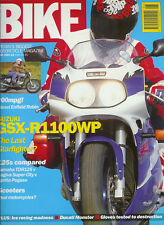 Bike June 1993 GSX-R1100WP TDR125 Pegaso Diesel Enfield Cagiva Super City M900