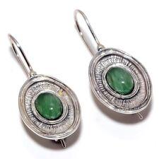 "Aventurine Natural Gemstone Handmad 925 Sterling Silver Earring 1.30"" SE-27"