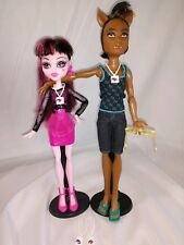 Clawd Wolf & Draculaura Music Festival Lot 2 dolls heart shoes VIM tag glasses