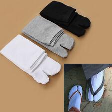 3 Pairs Japanese Kimono Flip Flop Sandal Split Toe Tabi Ninja Geta Zori Socks