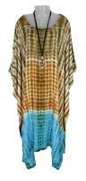 TIE DYE Kaftan Cover Up Beach Hippie Dress Boho Size 18 20 22 24 26 28 30 32