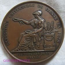 MED9921 - MEDAILLE EXPOSITION UNIVERSELLE DE VIENNE 1873 PARTICIPATION FRANÇAISE