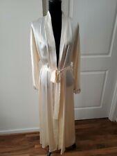 Christine Vancouver Silk Lace Robe.  lingerie Glamour Silk Robe cream ivory Sz M