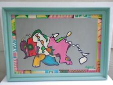 """1992 """"Macho"""" by Wout Ruigrok original oil painting on wooden board custom framed"""