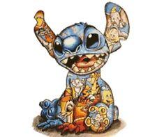 Lilo and Stitch Disney Characters. Cross Stitch Pattern.