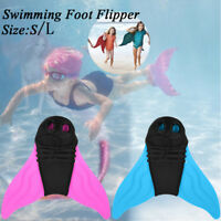 Kids Swimming Adults Mermaid Diving Monofin Swimmable Tails Fin Training Flipper