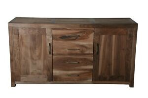 Handmade Natural Solid Wood Sideboard Dresser
