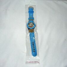 "WOMAGE PEANUTS SNOOPY ANALOG WRISTWATCH ACCESSORY 9"" BLUE CANVAS BAND TIME PIECE"