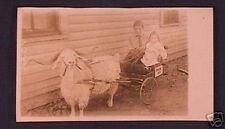 1919 Spokane Iowa? Kids in Mini Buckboard Post Card