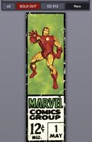 Topps Marvel Collect Digital Corner Boxes Wave 2 Iron Man /612