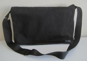Jack Spade Black Canvas Messenger Bag Olive Green Lining Greene St.