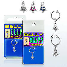 Clip On Navel Fake Illusion Clips Belly Button Jewelry No Piercing Floral Tulip