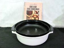 Tupperware Tupperwave White 1.75 & Black 1 Qt Stack Cooker Dishes, Cookbook