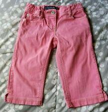 Mini Boden Girls Size 8y Pink Zipper Denim Cropped Capri Jean Pants Adjust waist