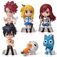 Fairy Tail Anime Lot Of 6 Mini Action Figures PVC 5cm US Seller