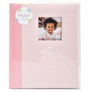 MY BABY FIRST MEMORIES BOOK - TINY IDEAS GIRLS PINK DOTS - KEEPSAKE RECORD ALBUM
