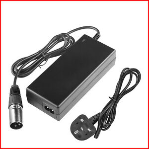 36V 44V 1.5A Lithium Battery Charger For Electric Bicycle E-bike XLR Plug UK