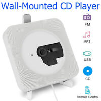 Mini Portable Wall-Mounted Bluetooth CD MP3 Player AUX USB FM MP3 Player US Plug