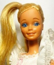 My First Barbie Doll White cotton dress Frill sleeve Blue eyes Twist n Turn 1980