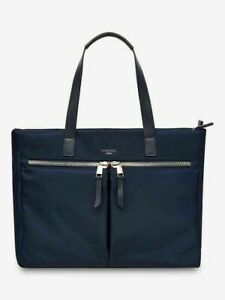 """Knomo Mayfair Blenheim 14"""" Tote Bag with Removable Sleeve 119-216-DNV - Navy"""