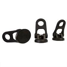 Three Rubber Tripod Feet for Tripods Black NEW