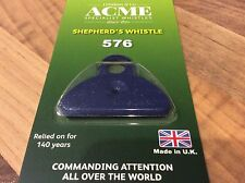 Acme Shepherds Plastic Lip Whistle IN BLUE. Sheep Dog Training Herding