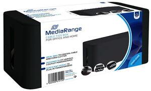 Mediarange Cable tidy box Kabelbox S small sized schwarz