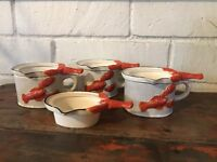 Vintage Japan Lobster Butter Warmer Melters Set Of 7 Pieces- Nice!
