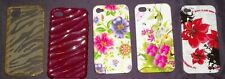 Lot of 5, 4S/4 I phone  Floral Hard and Gel Cases